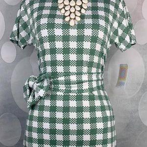 Lularoe XXS NWT Plaid Marly Dress 💚